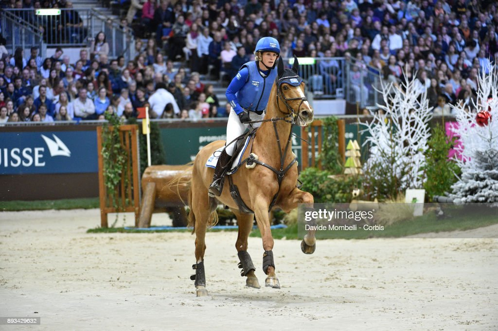 Elaine Pen, of Netherlands, riding Undercover during the Cross Indoor sponsored by Tribune de Genève , Rolex Grand Slam Geneva 2017