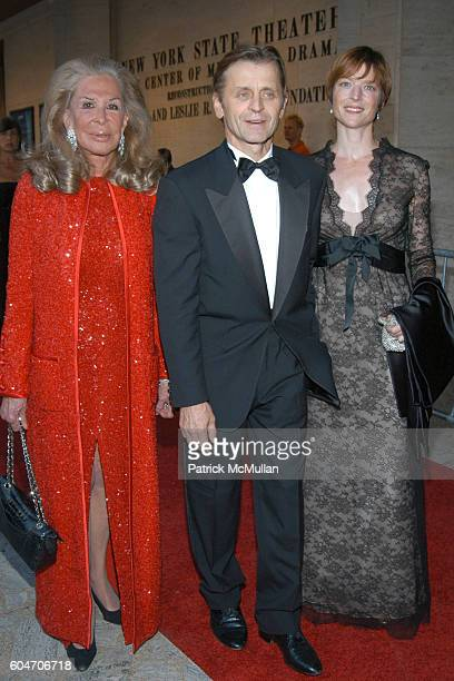 Elaine Sargent Mikhail Baryshnikov and Lisa Rinehart attend Metropolitan Opera Opening Night Red Carpet Arrivals at Lincoln Center on September 25...
