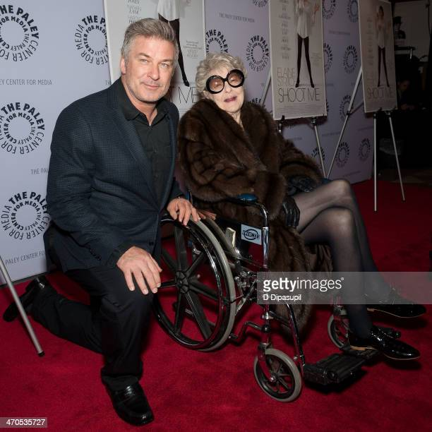 Elaine Stritch and Alec Baldwin attend the Elaine Stritch Shoot Me screening at The Paley Center For Media on February 19 2014 in New York City