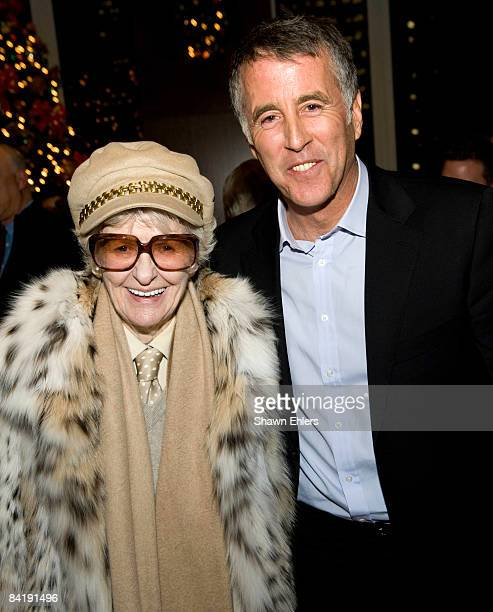 Elaine Stritch and Christopher Kennedy Lawford attend Christopher Kennedy Lawford Celebrates his New Book 'Moments of Clarity' at Mutual of America...