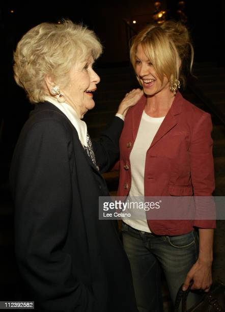 Elaine Stritch and Jenna Elfman during Elaine Stritch At Liberty Premiere After Party at Samuel Goldwyn Theater in Beverly Hills California United...