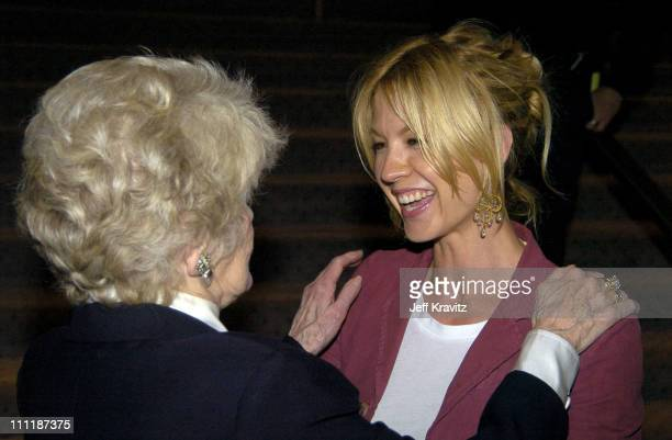 Elaine Stritch and Jenna Elfman during HBO Documentary 'Elaine Stritch At Liberty' Premiere After Party at Samuel Goldwyn Theater Academy of Arts and...
