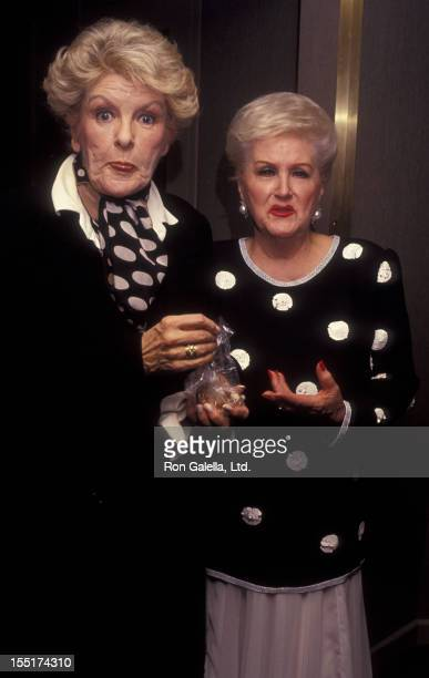 Elaine Stritch and Margaret Whiting attend Rogers and Hart Review Party on November 13 1991 at Rainbow and Stars in New York City