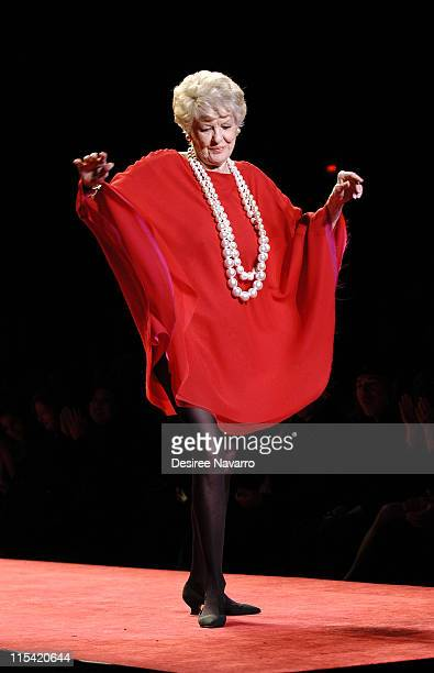 Elaine Stritch at Heart Truth Red Dress during Olympus Fashion Week Fall 2006 'Heart Truth Red Dress' Runway at The Tent Bryant Park in New York New...