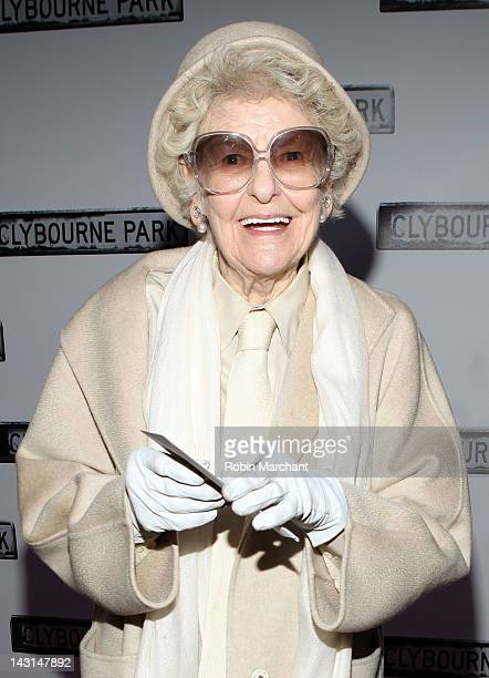 Elaine Stritch attends the 'Clybourne Park' Broadway opening night at Walter Kerr Theatre on April 19 2012 in New York City