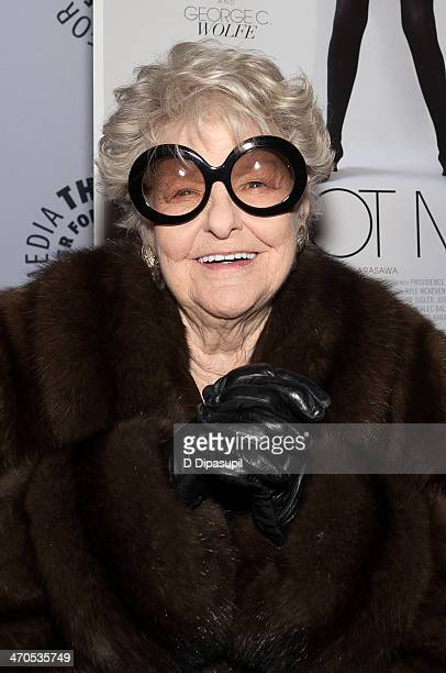 Elaine Stritch attends the 'Elaine Stritch Shoot Me' screening at The Paley Center For Media on February 19 2014 in New York City