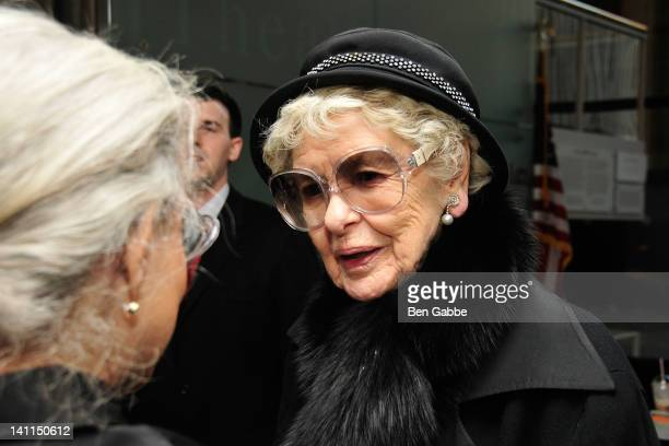 Elaine Stritch attends the Star Quality The World of Noel Coward VIP reception at New York Public Libaray on March 11 2012 in New York City