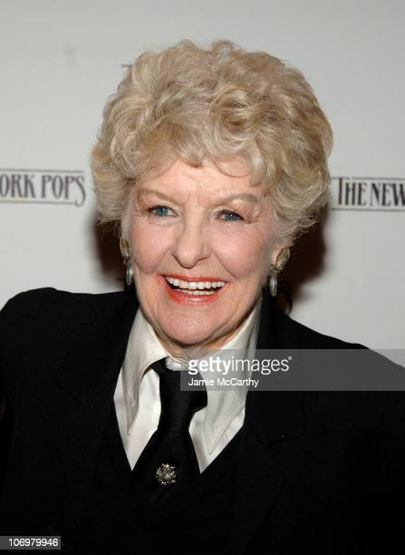 Elaine Stritch during '88 Keys for Skitch A Celebration of The Piano' The 23rd Birthday Gala Benefiting The New York Pops at Carnegie Hall in New...