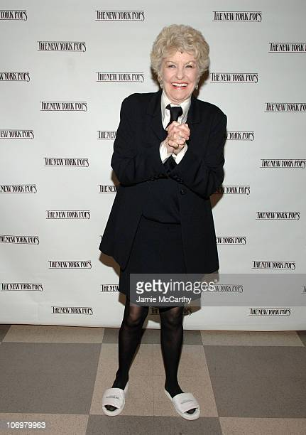 Elaine Stritch during 88 Keys for Skitch A Celebration of The Piano The 23rd Birthday Gala Benefiting The New York Pops at Carnegie Hall in New York...