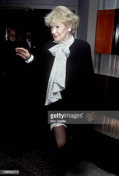 Elaine Stritch during DRG Record Release Party for Billy Stritch January 2 1992 at Rainbow and Stars in New York City New York United States