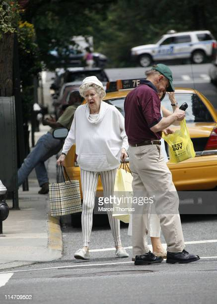 Elaine Stritch during Elaine Stritch Sighting on Madison Avenue July 8 2006 at Madison Avenue in New York City New York United States