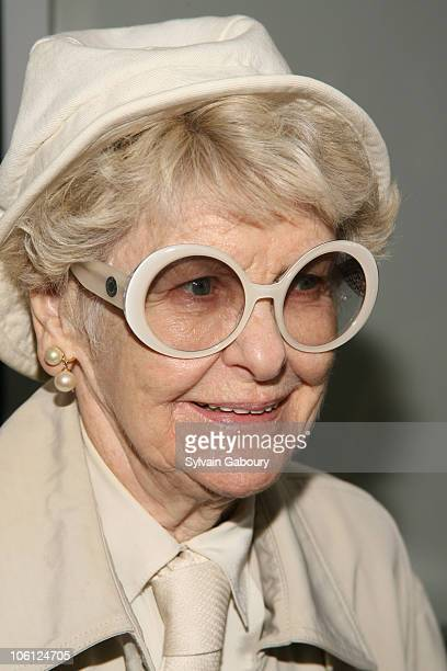 Elaine Stritch during 'Infamous' New York Premiere Inside Arrivals at Director's Guild Theater at 110 West 57th Street in New York City New York...
