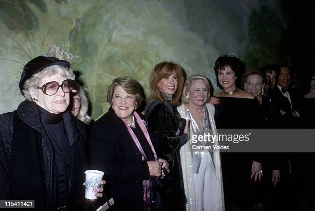 Elaine Stritch during Liz Smith Honored at The Drama League's Annual Dinner February 25 2002 at The Pierre Hotel in New York City New York United...