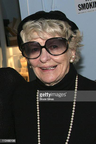 Elaine Stritch during Stockard Channing and Elaine Stritch Attend 'Dirty Rotten Scoundrels' on Broadway March 23 2005 at The Imperial Theater in New...