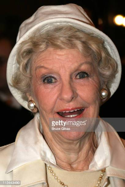 Elaine Stritch during 'Sweeney Todd' Opening Night on Broadway at The Eugene O'Neill Theater then The Copacabana in New York City New York United...