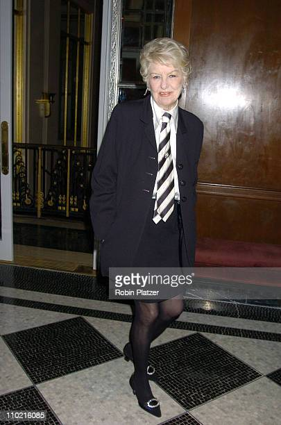 Elaine Stritch during The 30th Anniversary of The New Yorker For New York Awards Benefitting Citzens For NYC at The Waldorf Astoria Hotel in New York...