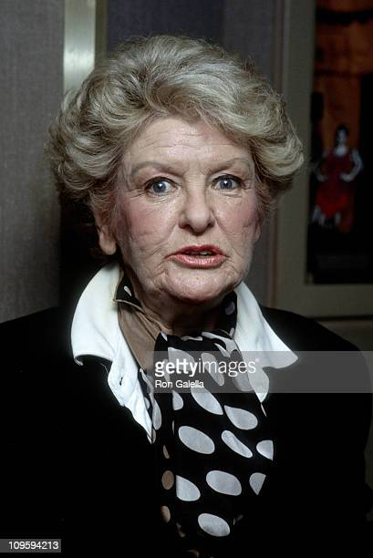Elaine Stritch during 'The Rodgers and Hart Revue' November 13 1991 at Rainbow and Stars in New York City New York United States