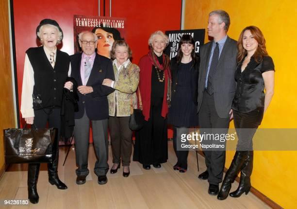 Elaine Stritch, Eli Wallach, Ann Jackson, Ellen Burstyn, Bryce Dallas Howard, Dave Schwartz and Jodie Markell attend Tennessee Williams on Screen and...
