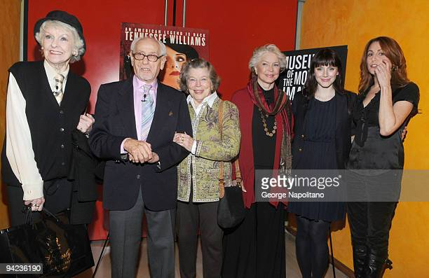 Elaine Stritch, Eli Wallach, Ann Jackson, Ellen Burstyn, Bryce Dallas Howard and Jodie Markell attend Tennessee Williams on Screen and Stage at The...