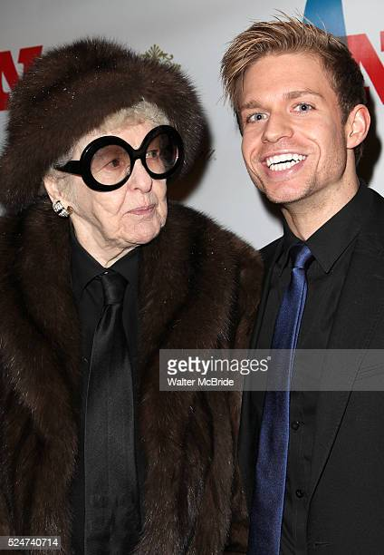 Elaine Stritch Hunter Ryan Herdlicka attending the Opening Night Performance of 'Ann' starring Holland Taylor at the Vivian Beaumont Theatre in New...