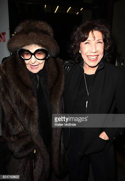Elaine Stritch Lily Tomlin attending the Opening Night Performance of 'Ann' starring Holland Taylor at the Vivian Beaumont Theatre in New York City...