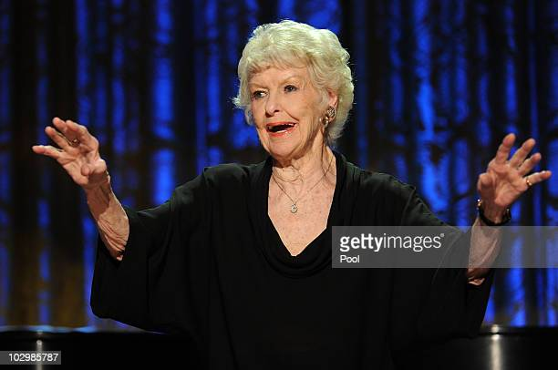 Elaine Stritch performs during a White House music series concert saluting Broadway in the East Room at the White House July 19 2010 in Washington DC...