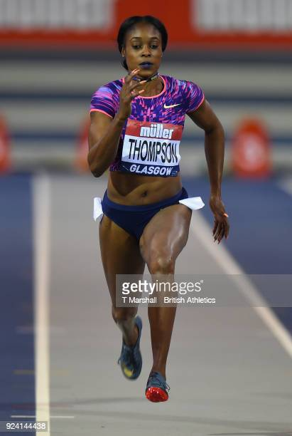 Elaine Thompson of Jamaica competes in the Women's 60 meters heats during the Muller Indoor Grand Prix event on the IAAF World Indoor Tour at the...