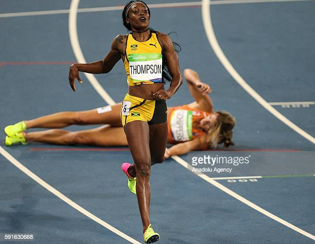 Elaine Thompson of Jamaika competes in the Women's 200m final of the Rio 2016 Olympic Games in Rio de Janeiro, Brazil on August 17, 2016.