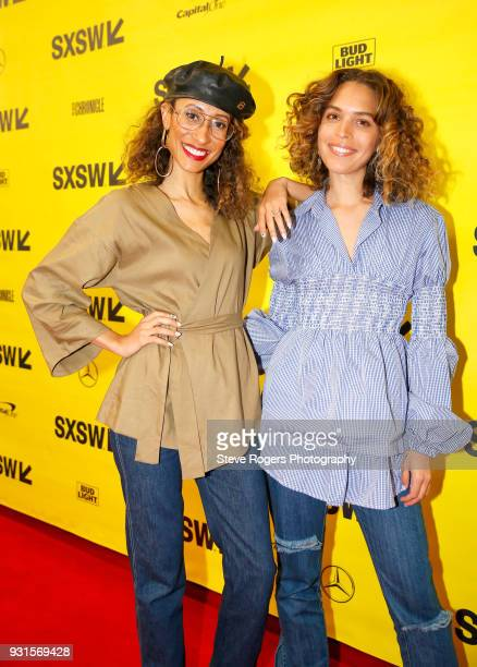 Elaine Welteroth and Cleo Wade attend TRIBE BUILDING 20 Engaging a Conscious Community Online IRL during SXSW at Austin Convention Center on March 13...