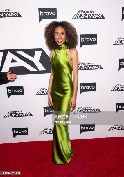 "Elaine Welteroth attends Bravo's ""Project Runway"" New York Premiere at Vandal on March 07, 2019 in New York City."