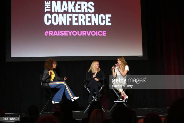 Elaine Welteroth Chief Executive Officer and Executive Director of Evofem Biosciences Inc Saundra Pelletier and Jessica Biel speak onstage during The...