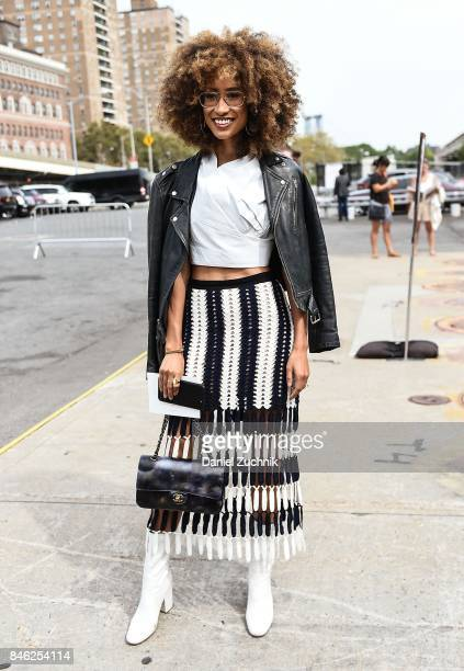 Elaine Welteroth is seen outside the Coach show during New York Fashion Week Women's S/S 2018 on September 12 2017 in New York City