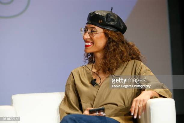 Elaine Welteroth speaks onstage at TRIBE BUILDING 20 Engaging a Conscious Community Online IRL during SXSW at Austin Convention Center on March 13...