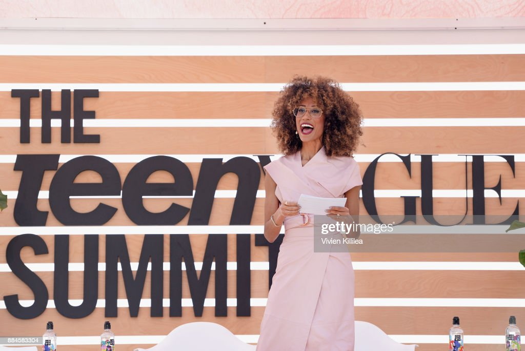 Elaine Welteroth speaks onstage during The Teen Vogue Summit