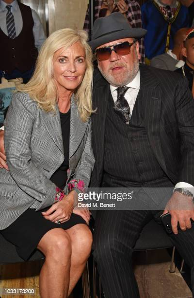 Elaine Winstone and Ray Winstone attend the Pam Hogg front row during London Fashion Week September 2018 at The Freemason's Hall on September 14 2018...