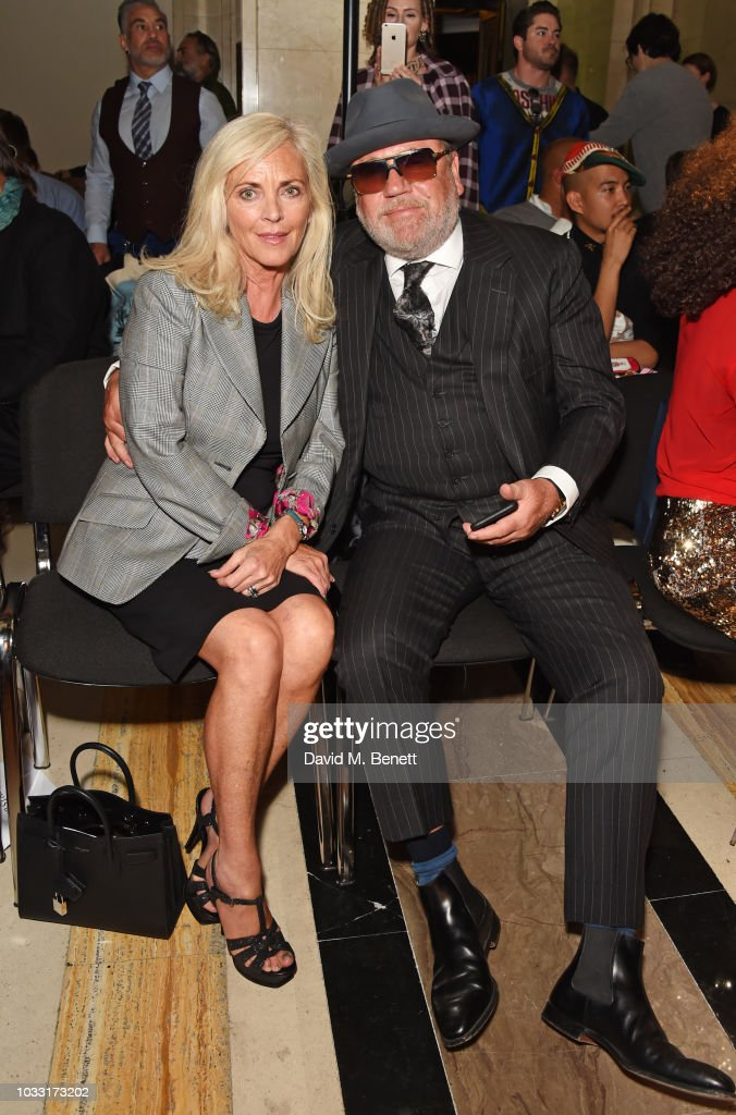 Elaine Winstone (L) and Ray Winstone attend the Pam Hogg front row during London Fashion Week September 2018 at The Freemason's Hall on September 14, 2018 in London, England.