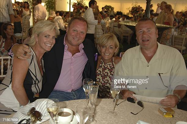 Elaine Winstone Gary Farrow Jane Moore and Ray Winstone attend the final of the 2006 Veuve Clicquot Gold Cup for the British Open Polo Championship...