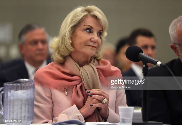 Elaine Wynn the largest single shareholder of Wynn Resorts and exwife of Steve Wynn testifies during the third day of the Massachusetts Gaming...