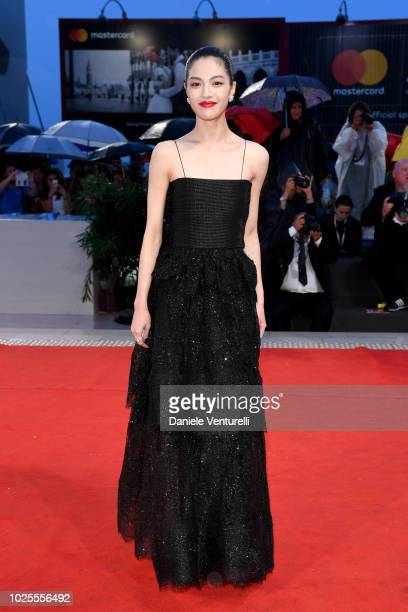 Elaine Zhong walks the red carpet ahead of the 'A Star Is Born' screening during the 75th Venice Film Festival at Sala Grande on August 31 2018 in...