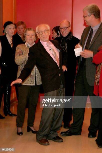 Elainte Stritch, Ann Jackson, Eli Wallach and David Schwartz attend Tennessee Williams on Screen and Stage at The Times Center on December 9, 2009 in...