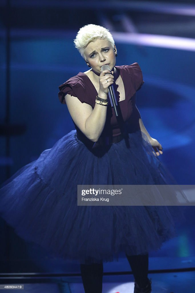 Elaiza performs at the Echo Award 2014 show on March 27, 2014 in Berlin, Germany.