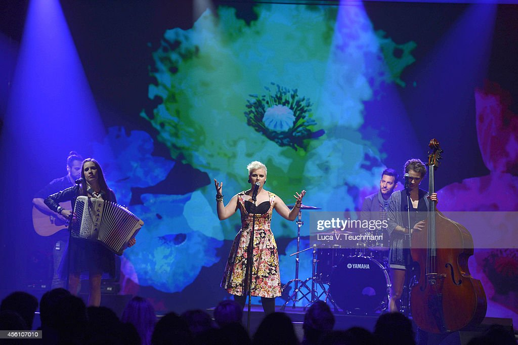 Elaiza performs at the Tribute To Bambi 2014 - Show at Station on September 25, 2014 in Berlin, Germany.