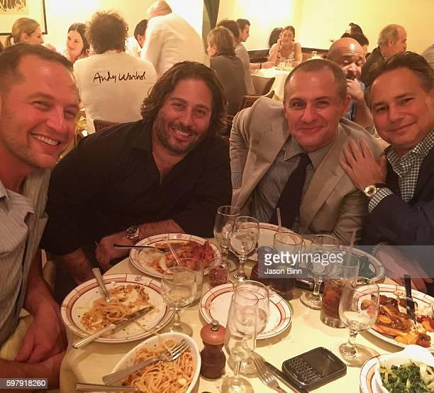 Elan Katz, CEO and Founder at Talent Resources Michael Heller, CEO at 5W PR Ronn Torossian, and Jason Binn circa July 2016 in New York, NY.