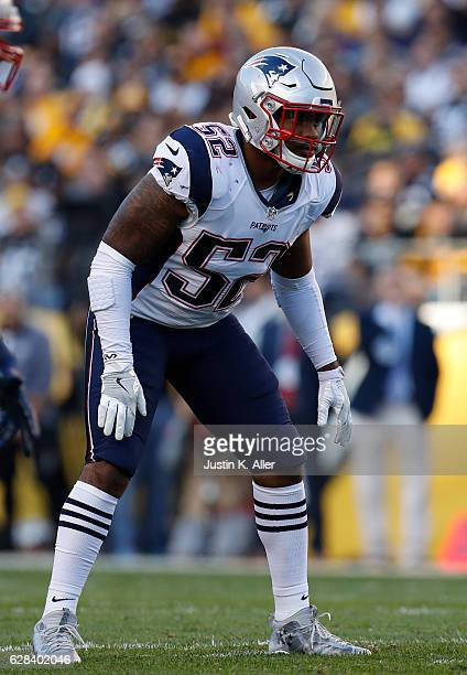 Elandon Roberts of the New England Patriots in action against the Pittsburgh Steelers at Heinz Field on October 23 2016 in Pittsburgh Pennsylvania