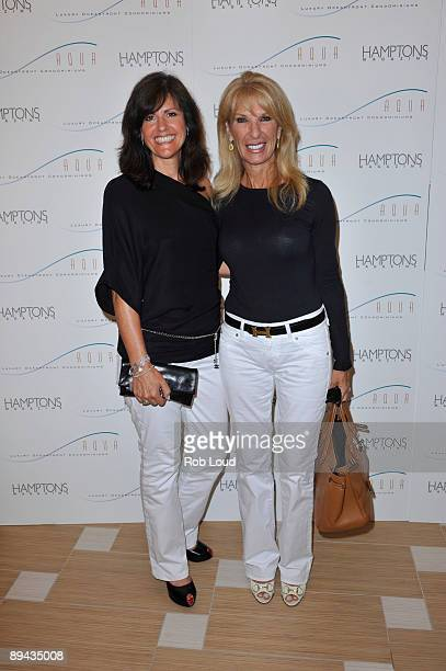 Elane Sharandena and Sherry Goldstein attend the opening of AQUA Luxury Oceanfront Condominiums presented by Hamptons Magazine at AQUA Luxury...