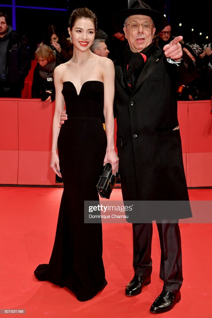Elane Zhong Chuxi and Festival director Dieter Kosslick attend the 'Don't Worry, He Won't Get Far on Foot' premiere during the 68th Berlinale International Film Festival Berlin at Berlinale Palast on February 20, 2018 in Berlin, Germany.