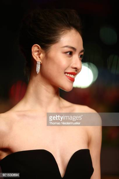Elane Zhong Chuxi attends the 'Don't Worry He Won't Get Far on Foot' premiere during the 68th Berlinale International Film Festival Berlin at...