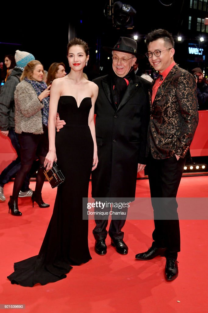 Elane Zhong Chuxi, Festival director Dieter Kosslick and Richard Shen attend the 'Don't Worry, He Won't Get Far on Foot' premiere during the 68th Berlinale International Film Festival Berlin at Berlinale Palast on February 20, 2018 in Berlin, Germany.