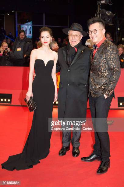 Elane Zhong Chuxi Festival director Dieter Kosslick and Richard Shen attend the 'Don't Worry He Won't Get Far on Foot' premiere during the 68th...
