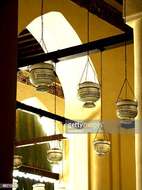 elanwar mosque light lamp - hussein52 stock photos and pictures